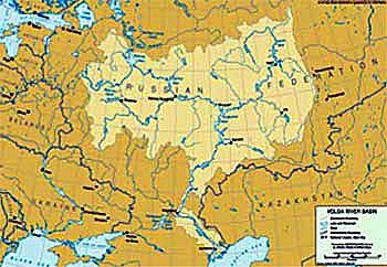 Green Cross Italia - Volga river on world map